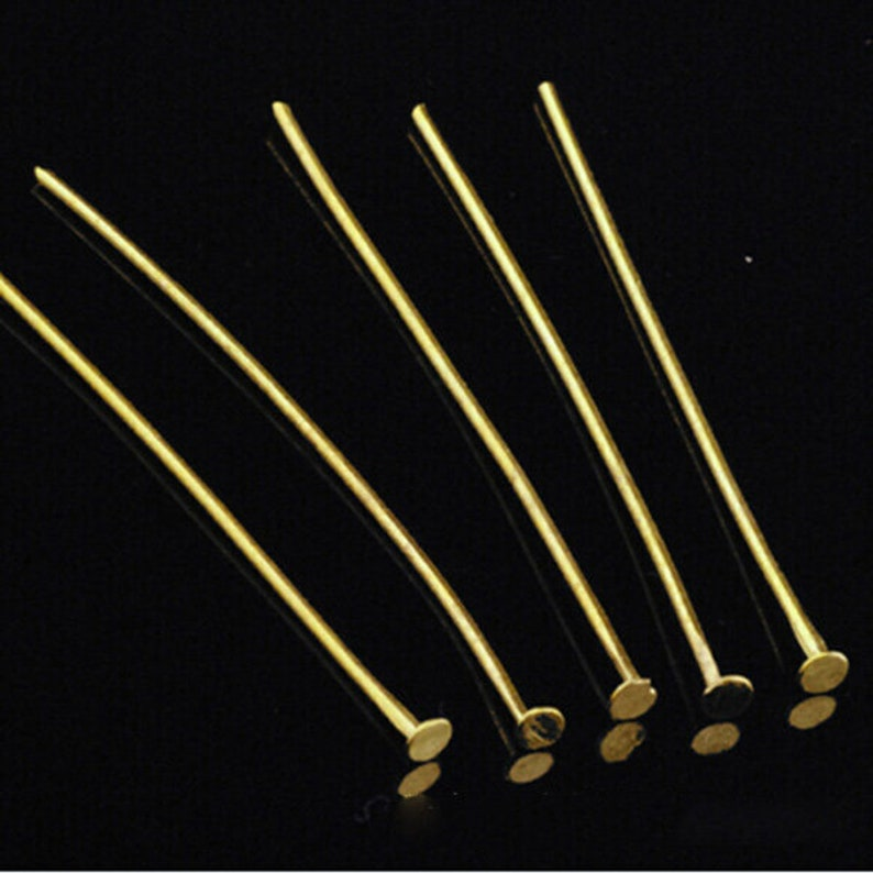 Bulk 200pcs 20MM25MM30MM40MM50MM  Head Pin 22 gauge silver tone ball pin finding BronzeRose goldgunmetalgoldsilverrhodium