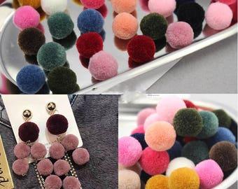 10pcs Fur Ball Charm Pom Pom Charms Pom Pom Earrings Necklace Pendant Small Pom pom DIY Jewelry Accessories Findings Pom Jewelry Supplies