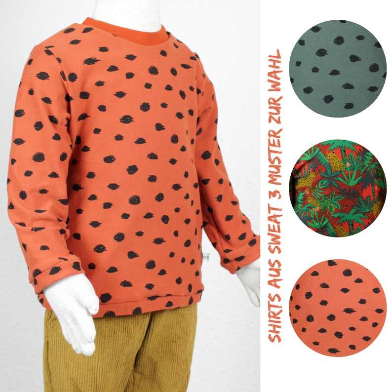 Long sleeve shirt in cotton sweat three patterns to choose image 0