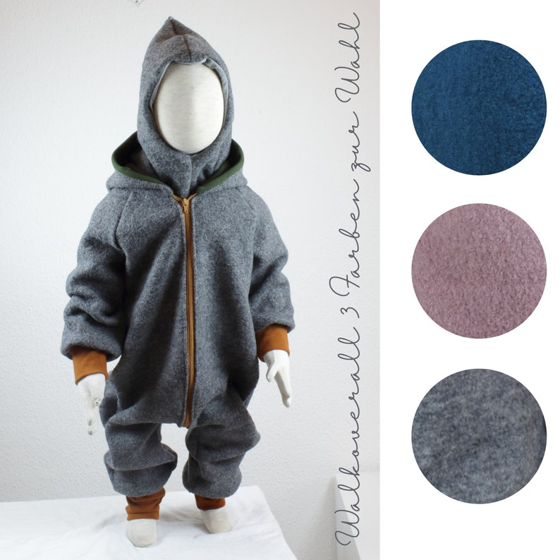 Overalls made of wool walk walkoverall three colors to image 0