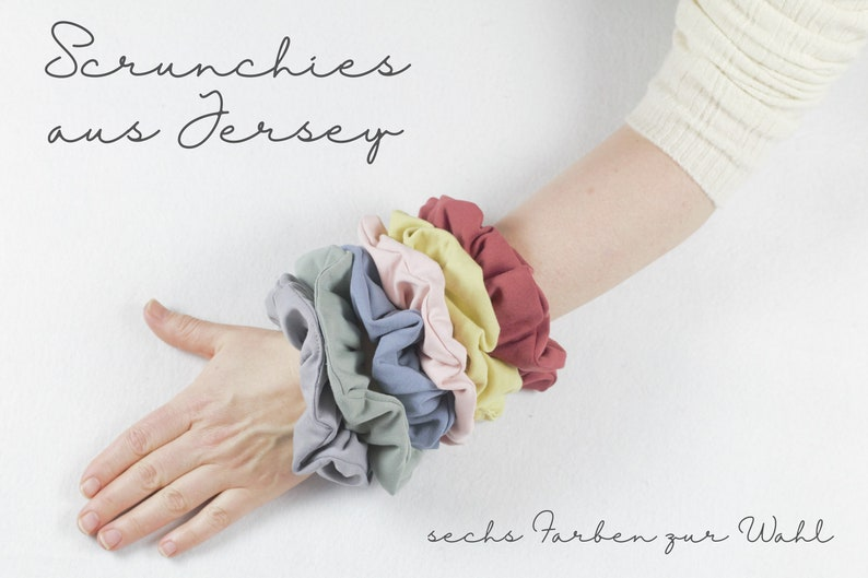 Scrunchies in jersey hairband six colors to choose from image 0