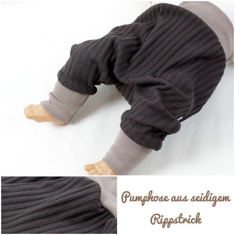 10d16b9e2dfd Pumphose of viscose rib knit vegan silk baby pants
