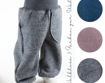 Co-wax trousers made of walk/ wool trousers, three colours to choose from, grey, petrol, lilac