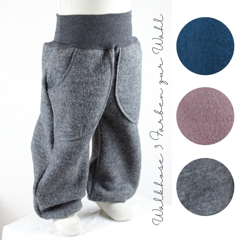 Co-wax trousers made of walk/ wool trousers three colours to image 0