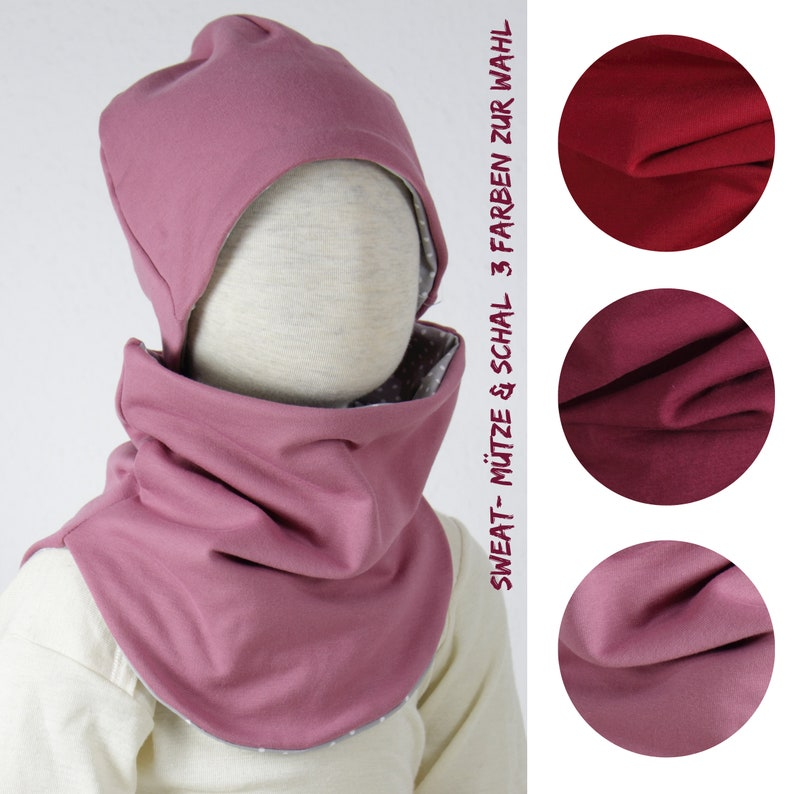 Beanie cotton sweat three colors to choose from set hat & image 0