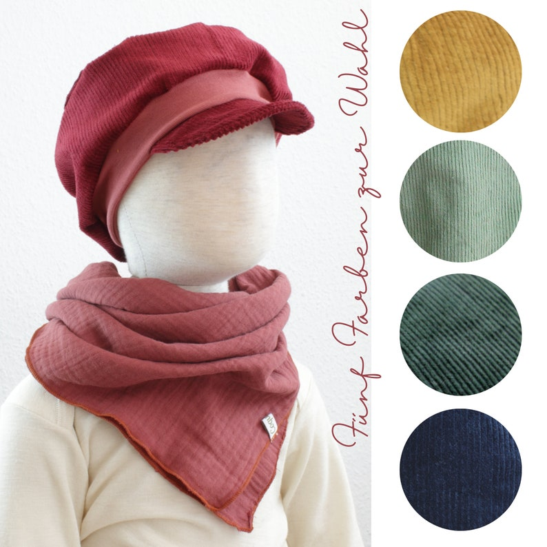 Michel hat in cord five colours to choose from ochre fir image 0
