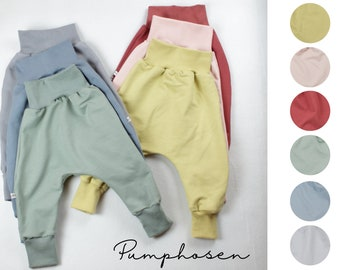 Pump pants in summer sweat/ French Terry, six colors to choose from, rose, citrus, wine red, stone grey, pigeon blue, sage