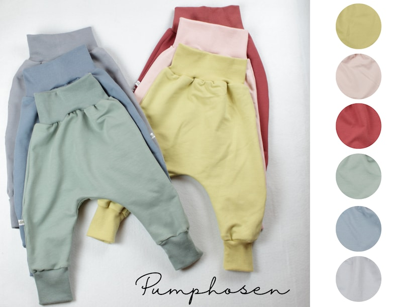 Pump pants in summer sweat/ French Terry six colors to choose image 0