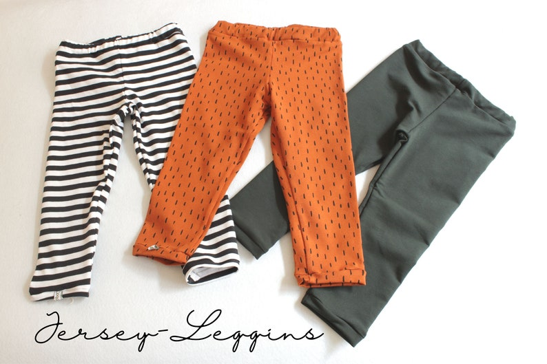 Cotton jersey leggings three designs to choose from tiger image 0