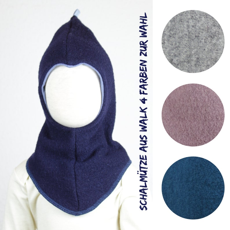 Walk hat/ scarf hat four colours to choose from dark blue image 0