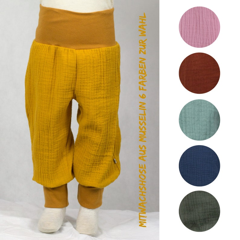 Co-wax trousers made of musselin six colors to choose from image 0