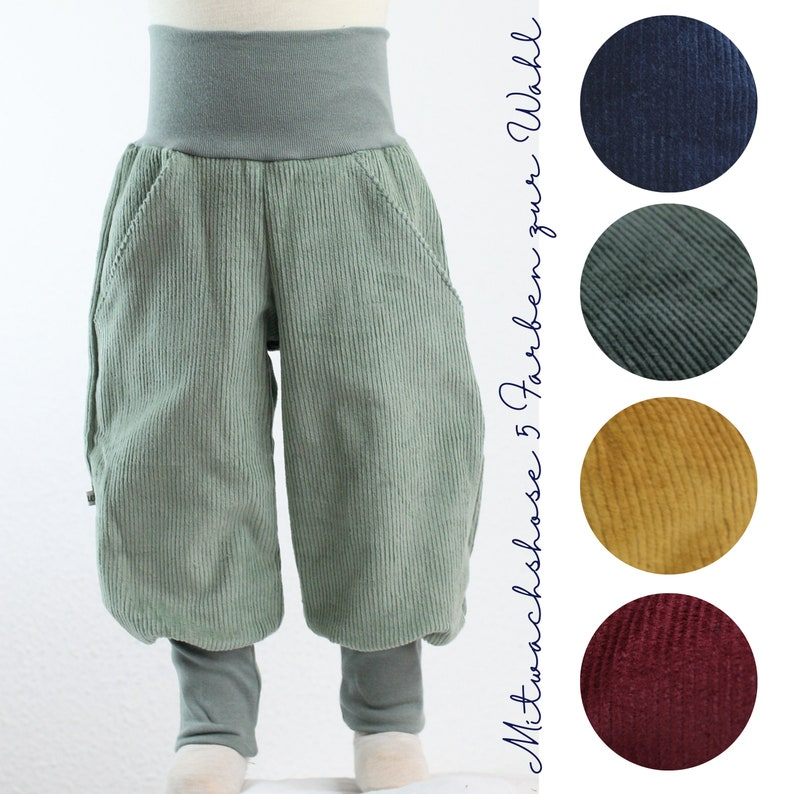 Corduroy trousers five colours to choose from ochre fir image 0