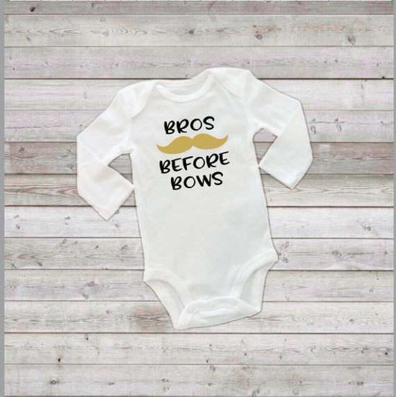 Bros Before Bows Tee or Bodysuit with Bow Preemie Newborn and Toddler ..