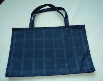Cotton blue Briefcase or tote bag