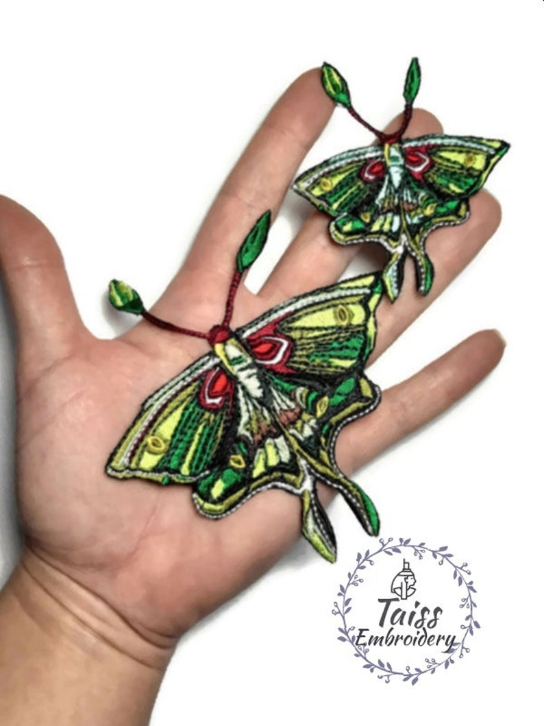 Butterfly patch iron on Moth patch Insect embroidered patch