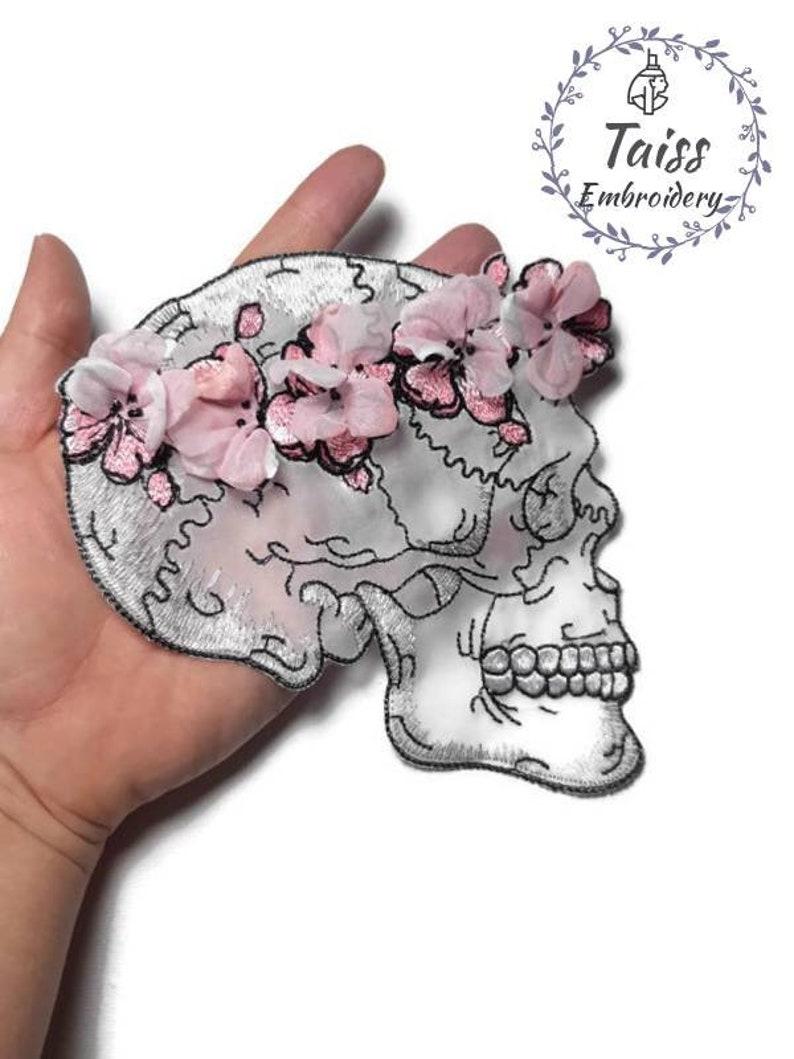 Punk patch Flower patch Large patch 3D effect