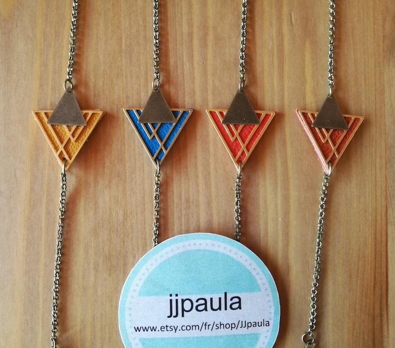Leather Bracelet genuine triangle