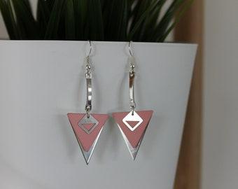 Powder Pink triangles