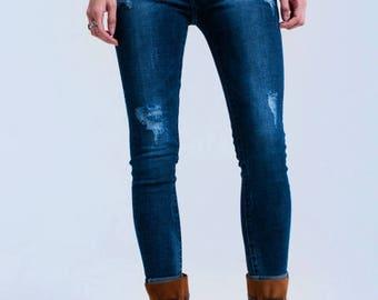 Worn skinny jeans