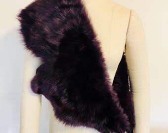 Witch Twitch Purple Fox Fur Stole