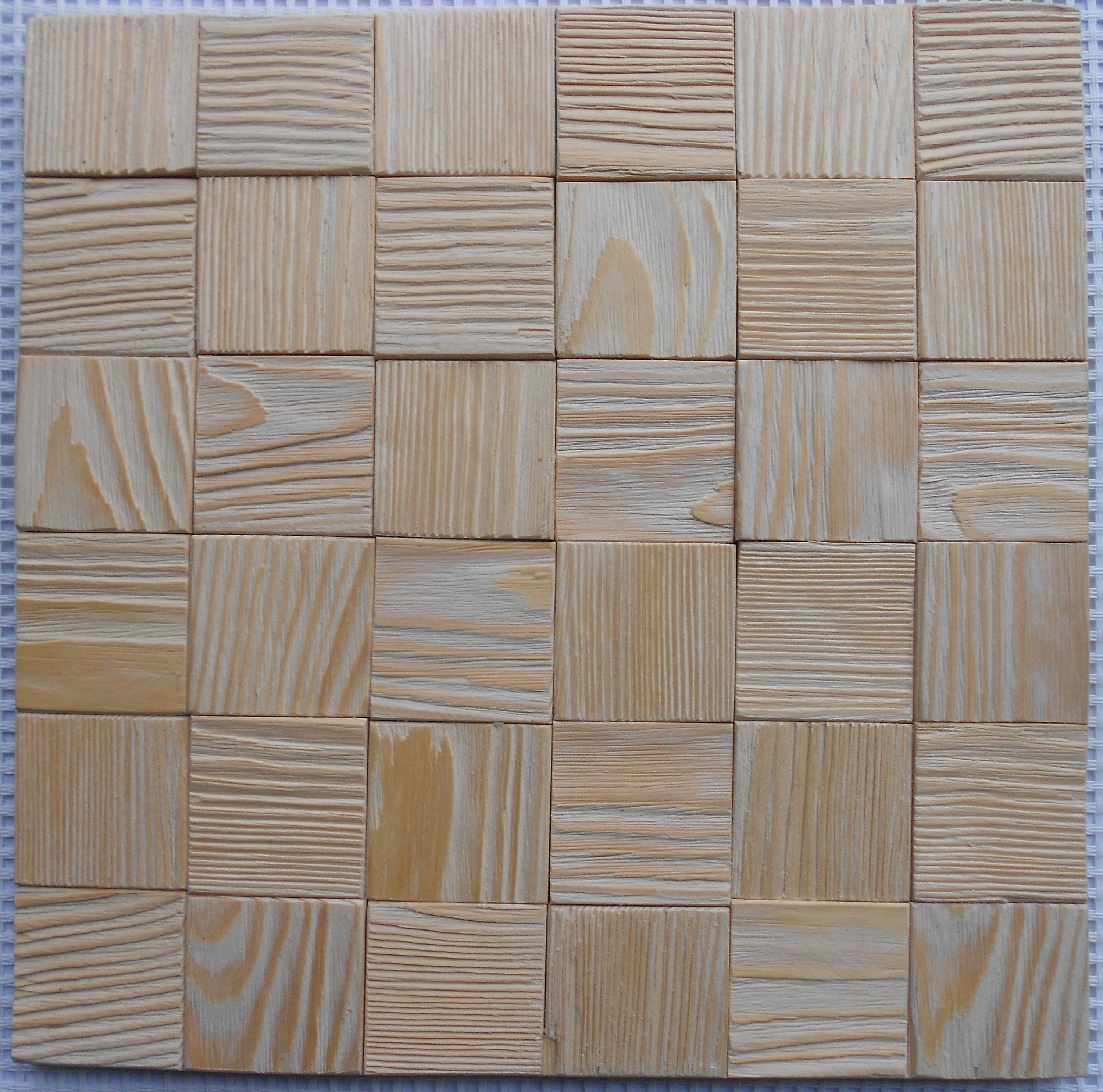 Wall Panel Unique Wooden Mosaic Pattern 3d Wood Etsy