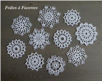 Crochet doilies by 10, batch of 10 crochet doilies, doily for dream catchers, decoration