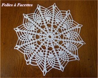 White crochet napperon, white cotton lace doily, crochet doily, dream catchers, decoration