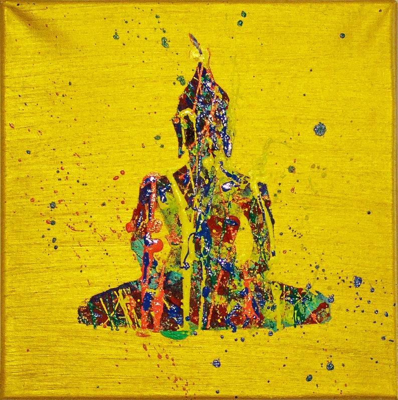 5618f3999 Buddha wall art buddha painting mindfulness gift | Etsy