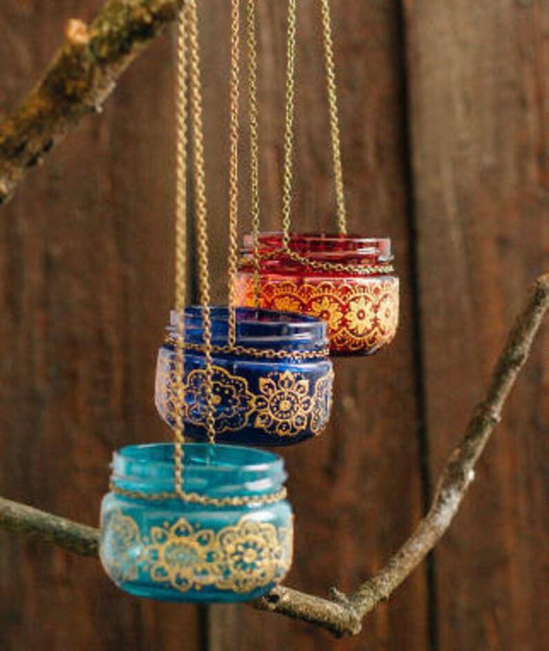 Moroccan lantern, hanging candle holder, tealight candle holder, boho decor  bedroom, college student gift