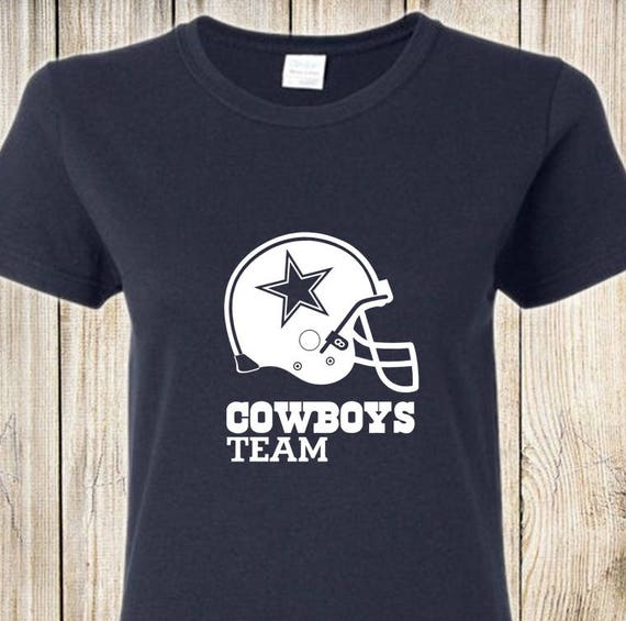 Dallas Cowboys Women s Vinyl Tee Team Cowboys NAVY BLUE  82ca522b9