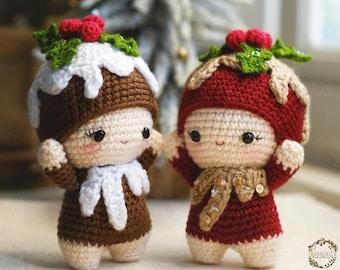 PATTERN: Figgy Christmas Pudding amigurumi by Irissesile [Amigurumi Crochet Pattern Tutorial] Christmas crochet doll