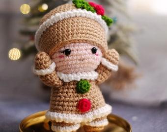 PATTERN: Jolly  the Christmas Gingerbread amigurumi by Irissesile [Amigurumi Crochet Pattern Tutorial] Christmas crochet doll