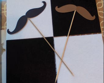 5 Pack of Color Cardstock Mustache