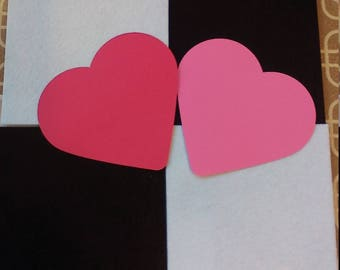 5 Pack of Color Cardstock Heart