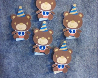 5 Pack of Color Baby Boy First Birthday