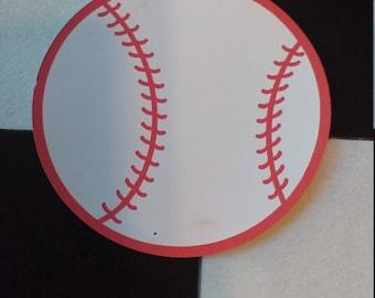 5 Pack of Color Cardstock Baseball