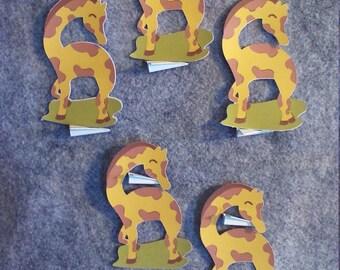 5 Pack of Color Baby Giraffe
