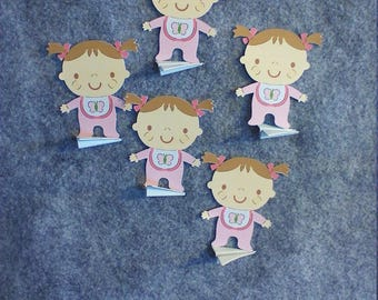 5 Pack of Color Baby Girl First Steps