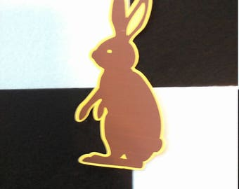 5 Pack of Color Cardstock Bunny Rabbit