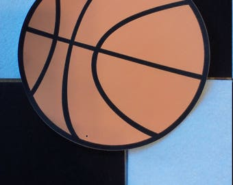 5 Pack of Color Cardstock Basketball