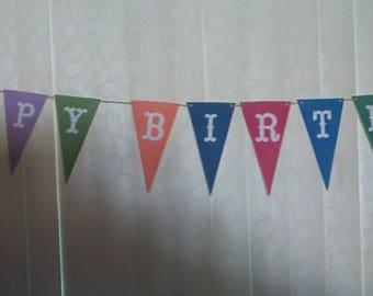Color Cardstock Happy Birthday Banner