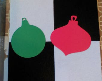 5 Pack of Color Cardstock Ornament
