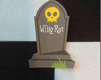 5 Pack of Color Cardstock Tombstone