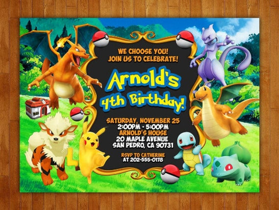 picture regarding Free Printable Pokemon Invitations titled Pokemon Birthday Invitation, Pokemon Invitation, Pokemon Occasion, Pokemon Printables, Pokemon Tailored, Totally free 4x6 Thank Oneself Card