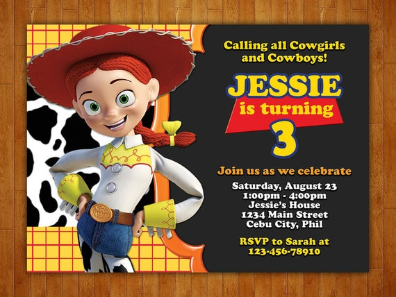 picture about Free Printable Toy Story Invitations named Jessie Toy Tale Birthday Invitation, Jessie Toy Tale Invitation, Jessie Toy Tale Celebration, Jessie Toy Tale Printables, Free of charge Thank By yourself Card