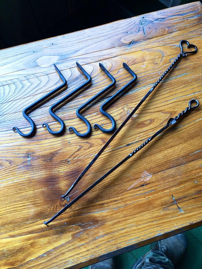 4 Lantern Hooks Wall Mount Hooks Plant Hooks