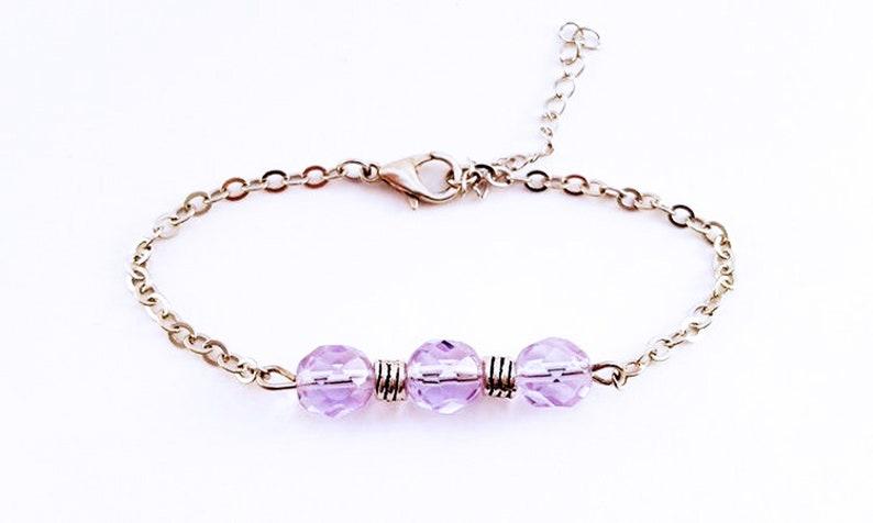 Gourmette Elegant Chic End Epuré Feminine Crystal Pearls image 0