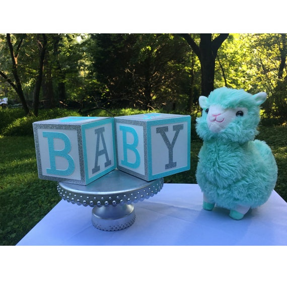 Mint Green And Silver Baby Shower Centerpiece Mint Green Etsy