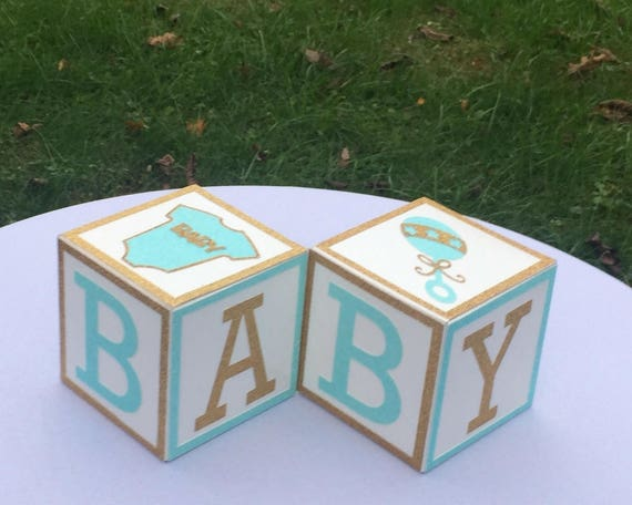 Mint Green And Gold Baby Shower Centerpiece Mint Green Shower Mint Baby Shower Decorations Gender Neutral Shower Decorations Set Of 4