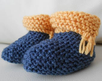 Baby booties knitted baby 6 months knitted hands small Indian style